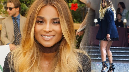 A Day After Announcing Baby News Ciara Steps Out Style
