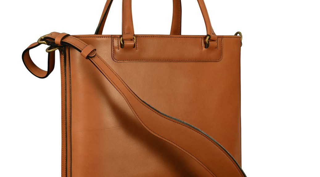 Hand-burnished,-chestnut-Business-Tote-with-handles-and-strap;-14-x-13-x-4'-small