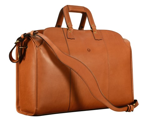 Hand-burnished-chestnut-Litigation-Bag;-22-x-14-x-8