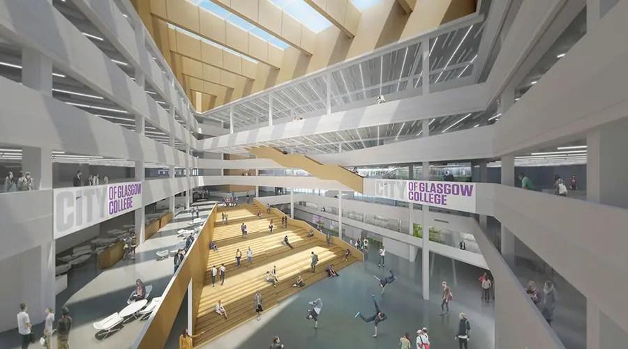 New glasgow city college building design glasgow for Interior design glasgow