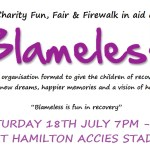 blameless charity fundraiser