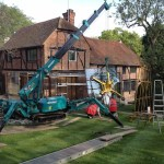 Glazed extension glass lifting