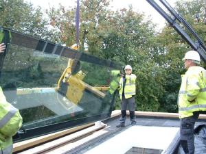 Rooflight lifting installation