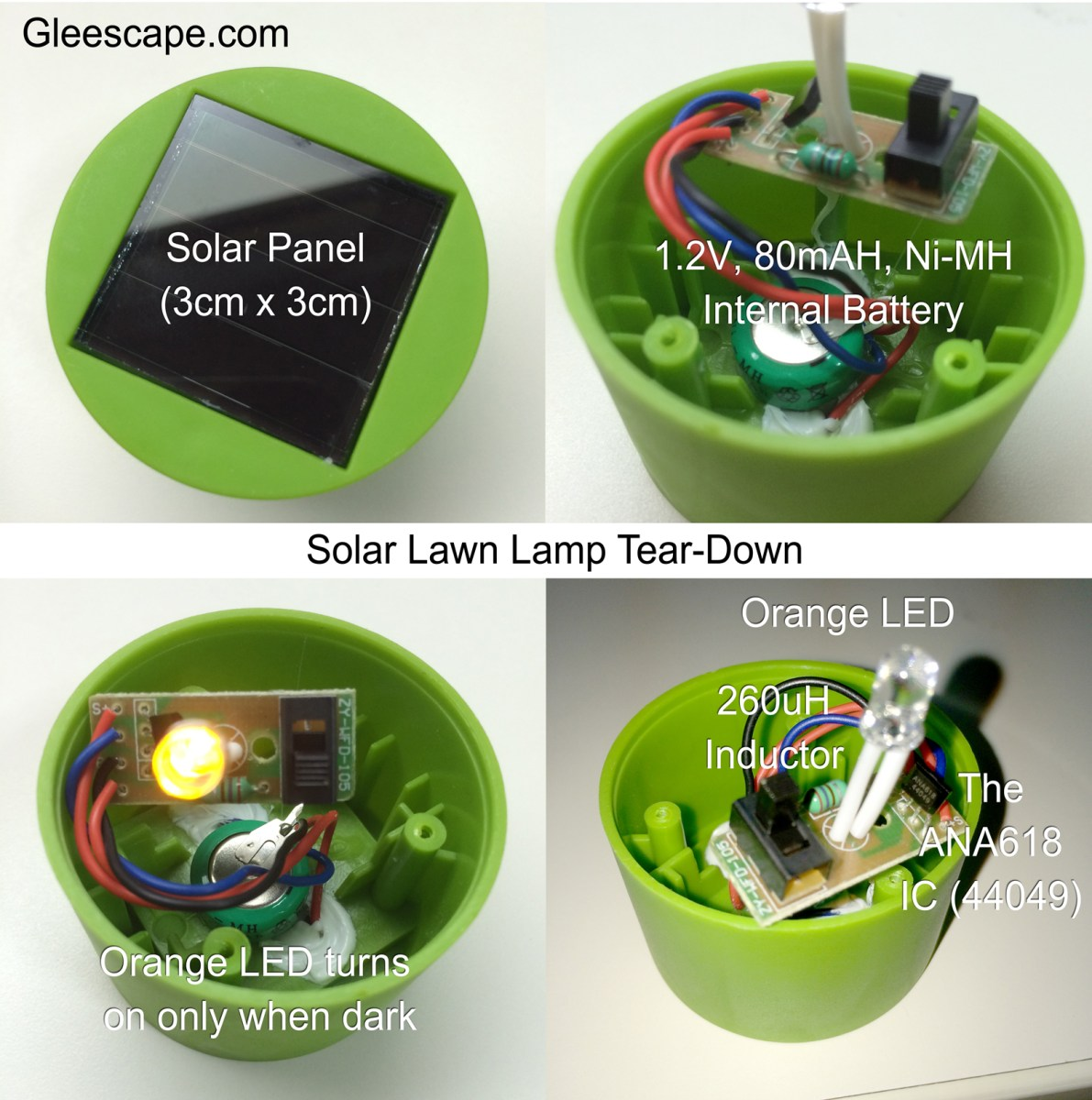 Download English PDF Datasheet for ANA618 Solar Lawn Light/LED Controller