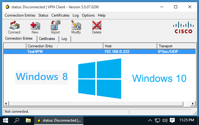 5 Steps to make Cisco VPN Client work in Windows 8 and 10