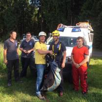 Unser Mitglied Gerhard hat sein Gurtzeug für Übungszwecke an die Bergwacht Rennsteig gespendet!