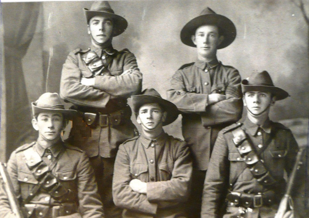 First five to leave Cambridge NZ 1914
