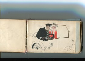 JC BWH auto drawing H Halliday 15th WYR 1916