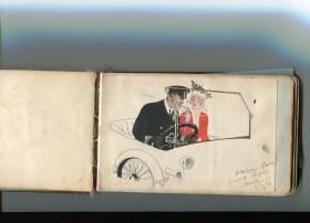 JC BWH auto drawing H Halliday 15th WYR 1916
