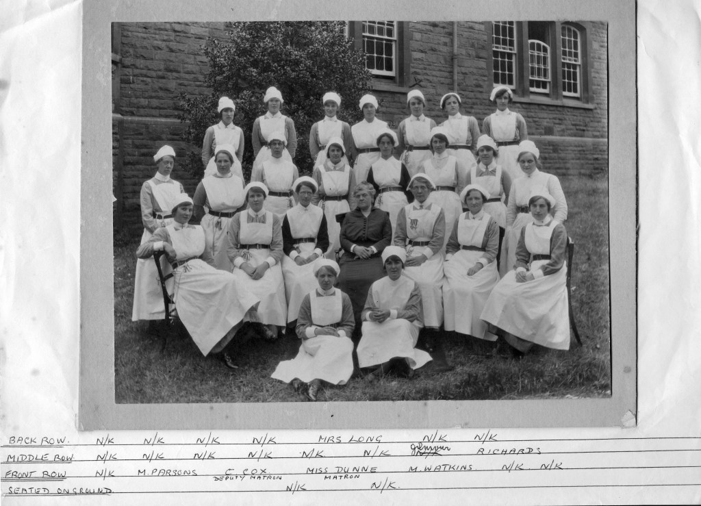 MISS DUNN AND NURSES