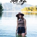hipster girl lake