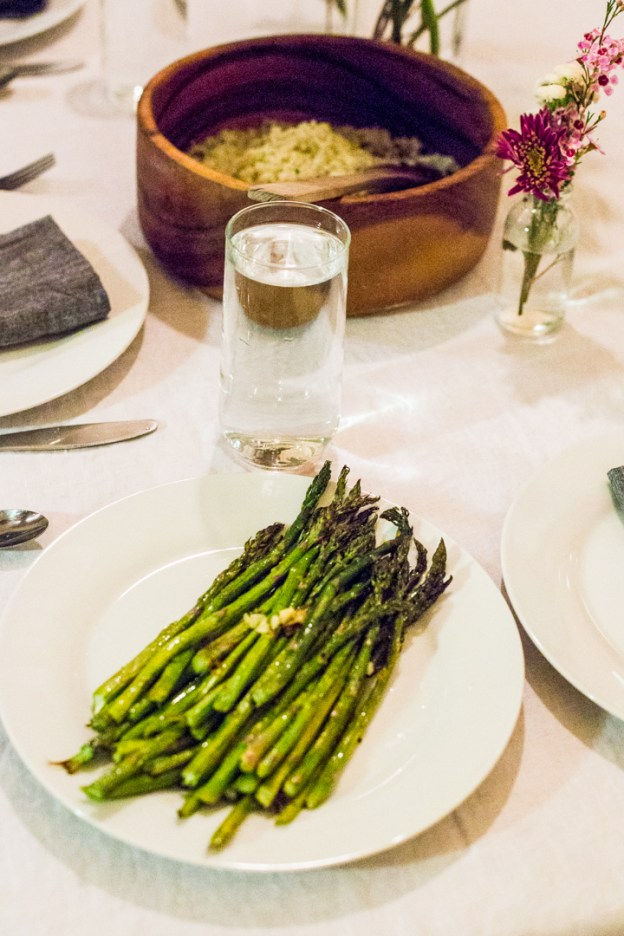 oven roasted asparagus with lemon and garlic