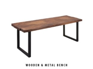 wooden-and-metal-bench