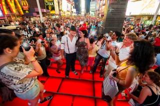 Times Square Engagement Photos {Andrea & Steve}
