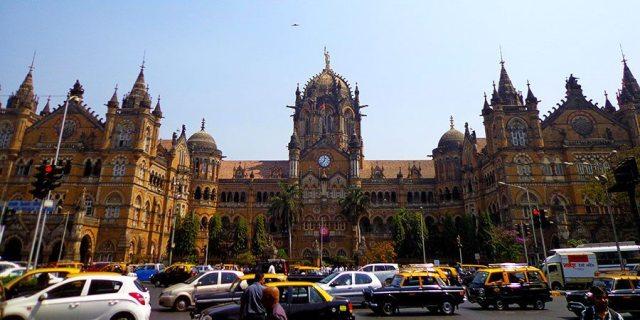 Mumbai's famous Train Station