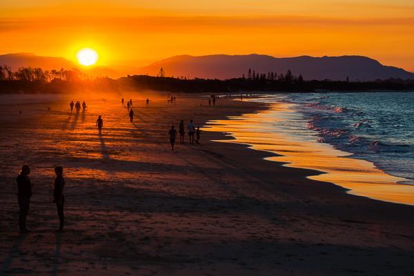 Sunset at Byron Bay. Photo credit www.vagabondimpluse.com