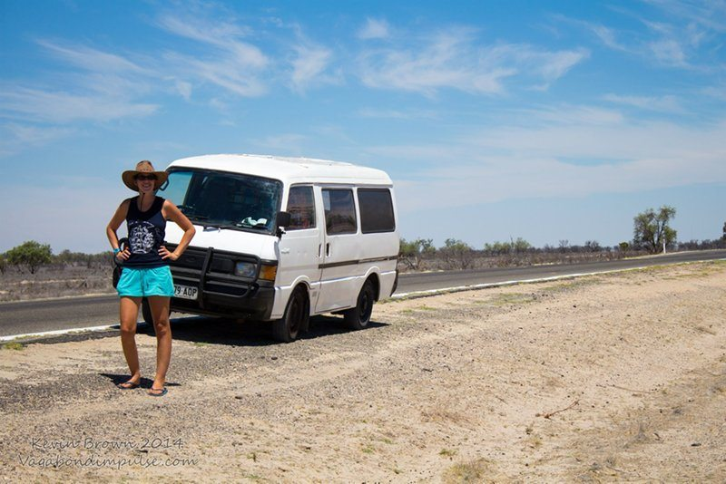 Driving through the Australian Outback in our very own campervan