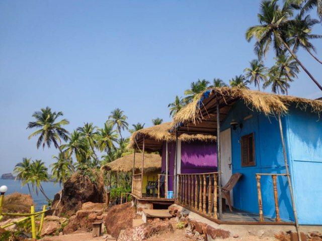beach huts beaches in goa