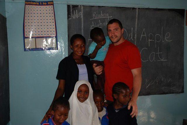 Carlo teaching in a small school in Arusha, Tanzania