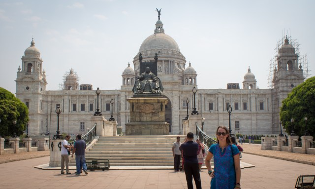 Me at the Victoria Memorial in Kolkata. Did you know that (former name Calcutta ) was the first capital of British India