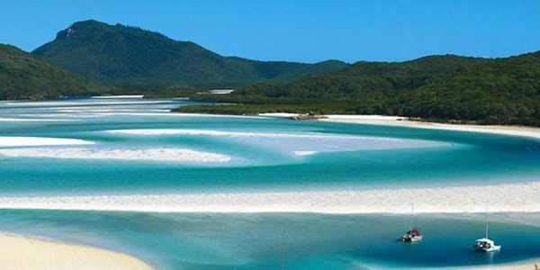 The Whitsunday Islands make a good next stop South from Cairns