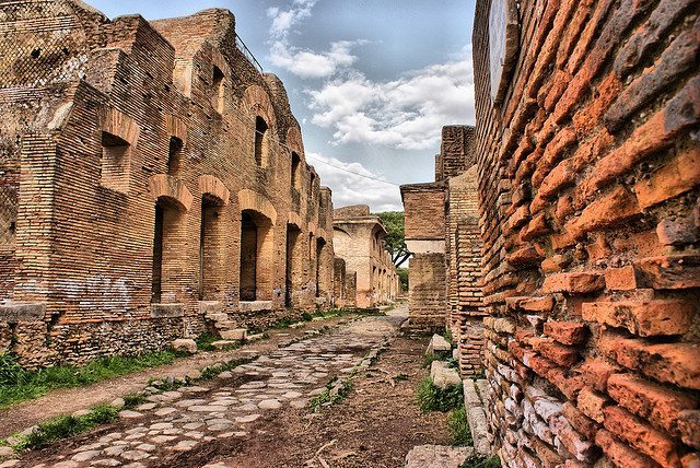 The ruins of Ostia Antica just outside Rome