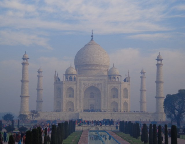 The Taj Mahal does look etheral in the misty morning