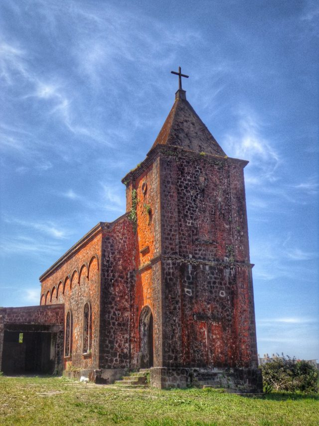 The church at Bokor Hill Station in Cambodia