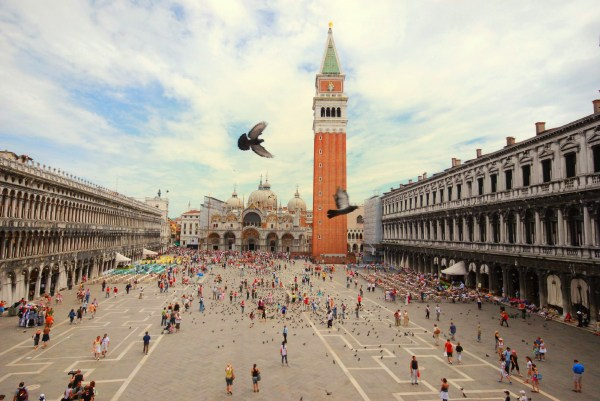 Famous St Marks Square in Venice