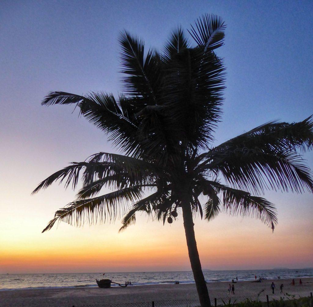 Sunset on Utorda Beach, South Goa