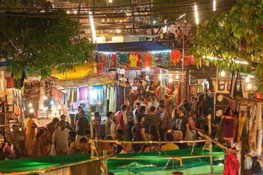Saturday night market in Aprora, North Goa