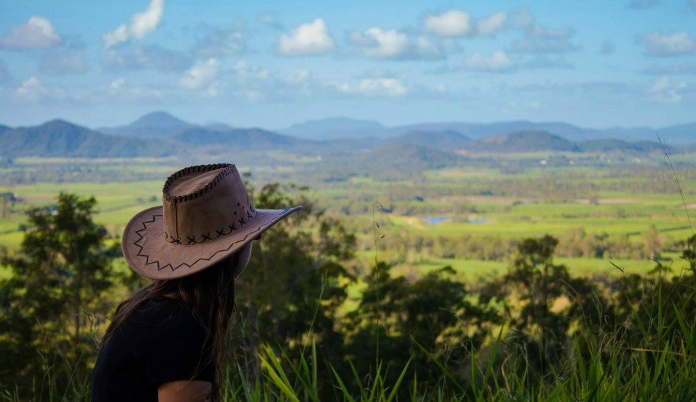 Overlooking Anna overlooking the Pioneer Valley in Queensland, Australia where I worked in a pub for 6 months.