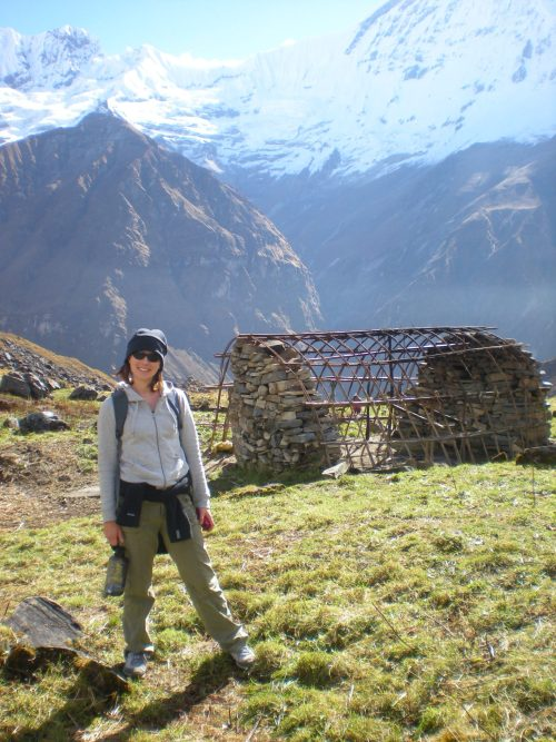 Me in Nepal on the Annapurna Sanctuary Hike
