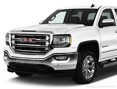 GMC Sierra Chrome Grill  Custom Grille  Grill inserts  Chrome Grille BEFORE   2017  GMC Sierra