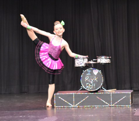 Zoe at a dance competition in Peterborough, Ontario.