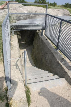 Entrance to the underground Observation Post
