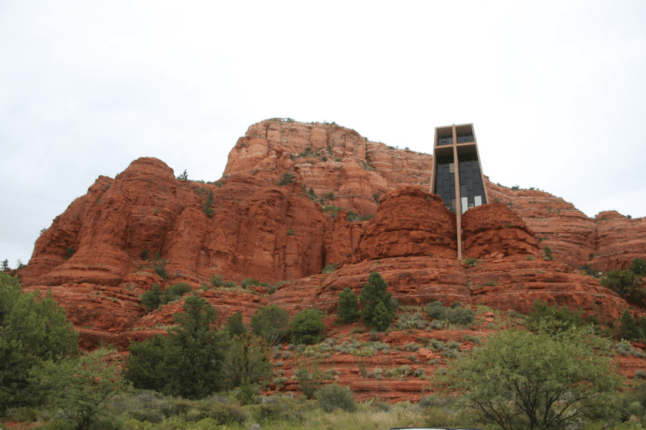 The chapel built into the rock
