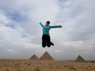 Mikhaila is jumping so high