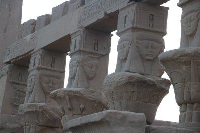 Columns featuring the goddess Hathor.