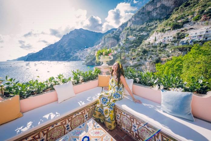 Christine Philip in Villa Treville, Positano. Photogaphy by Piera Tammaro Fotografa