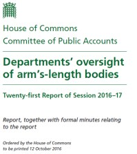 UK Public Accounts Committee publishes report on the government's oversight of arm's-length bodies