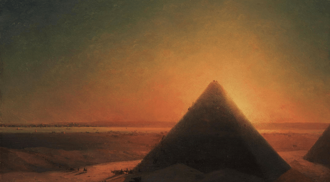 Pyramid in Sunset