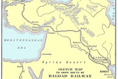 berlin baghdad bahn map 1918