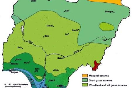 map nigeria states