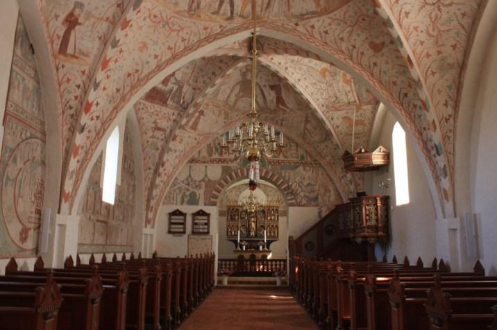 Intérieur de l'église Keldby - île de Møn - Danemark