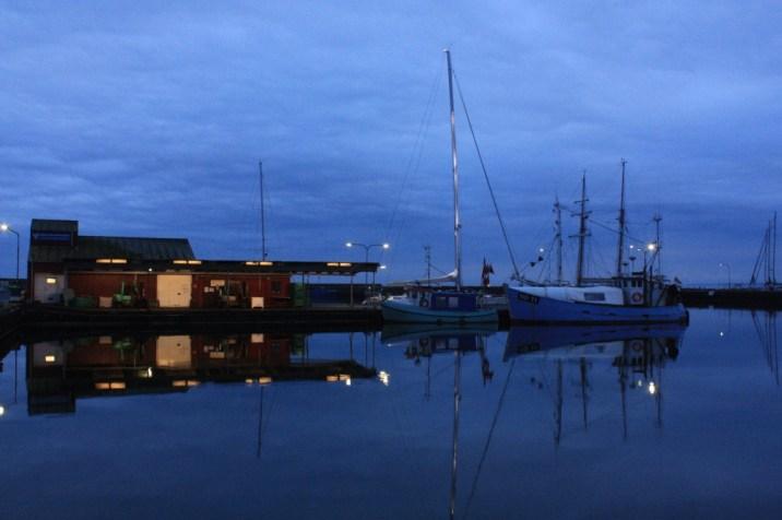 Bateaux la nuit - Klintholm Havn - île de Møn - Danemark
