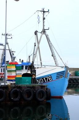 Bateau de pêche à Klintholm Havn - île de Møn - Danemark