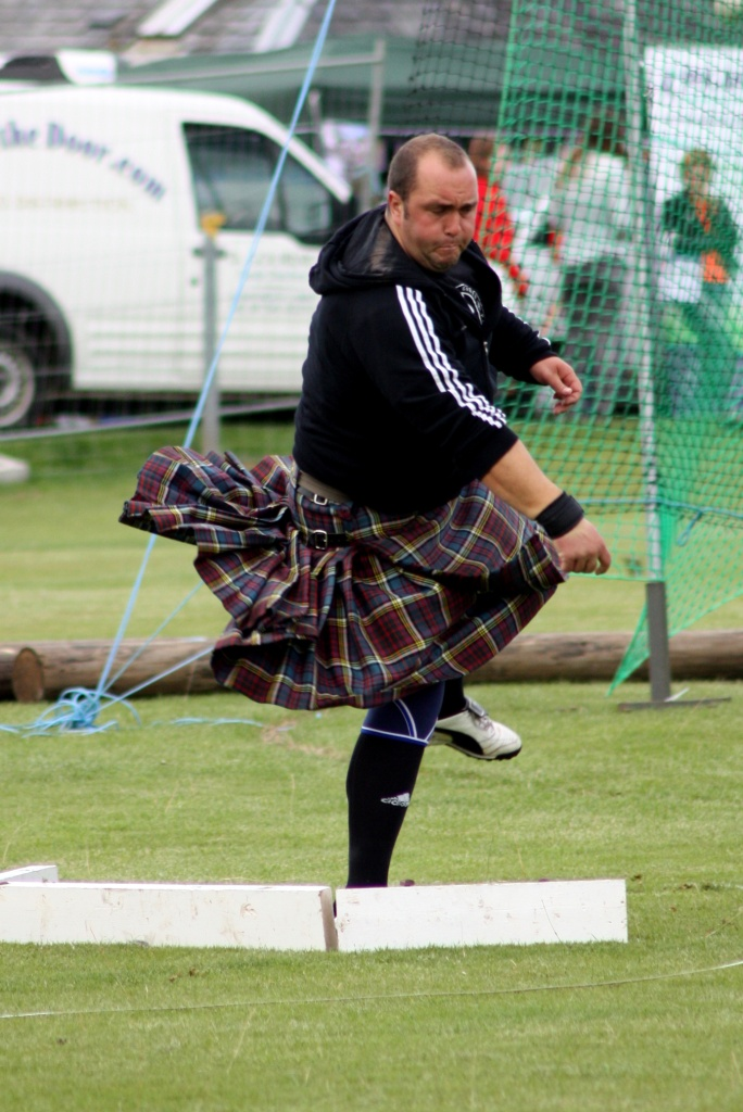 Lancer pierre - Highland Games - Ecosse