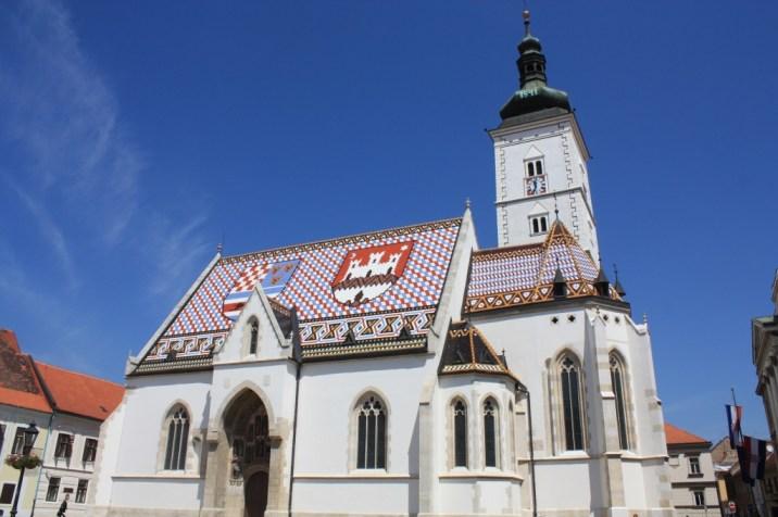 Eglise st marc - zagreb - croatie
