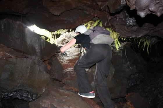 sortie - tunnel lave - ile de la Réunion